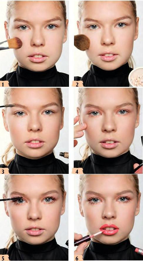آموزش آرایش ساده دخترانه