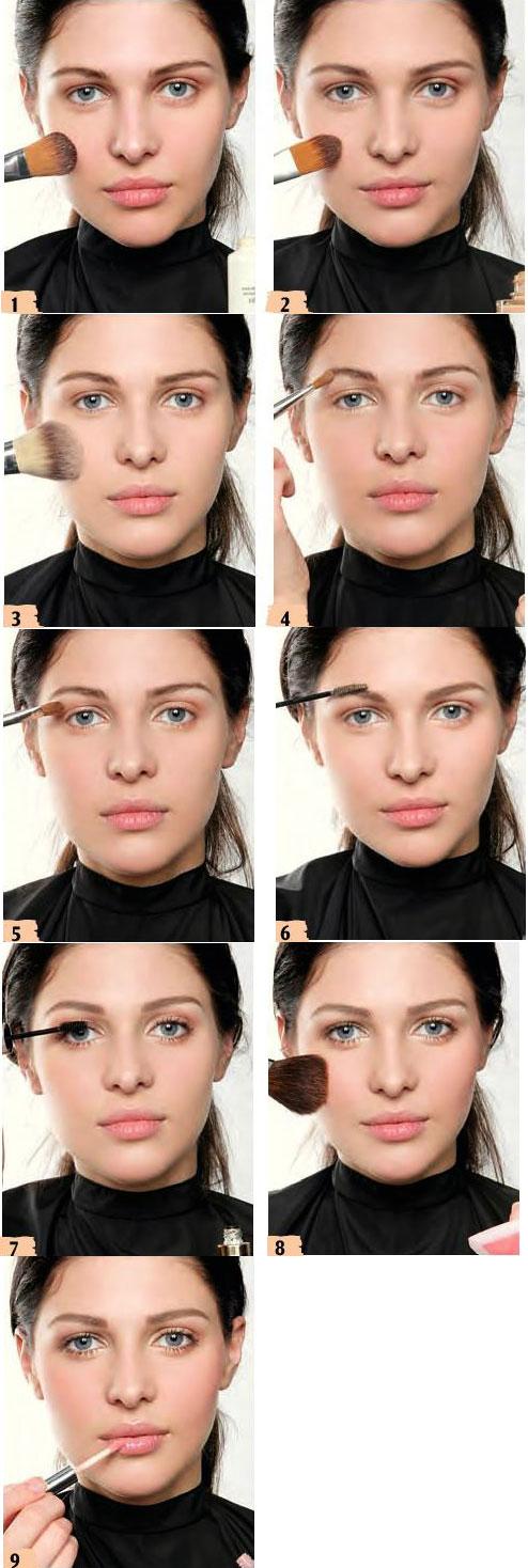 آموزش آرایش طبیعی صورت