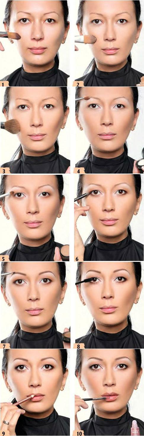 آموزش آرایش قهوه ای مات