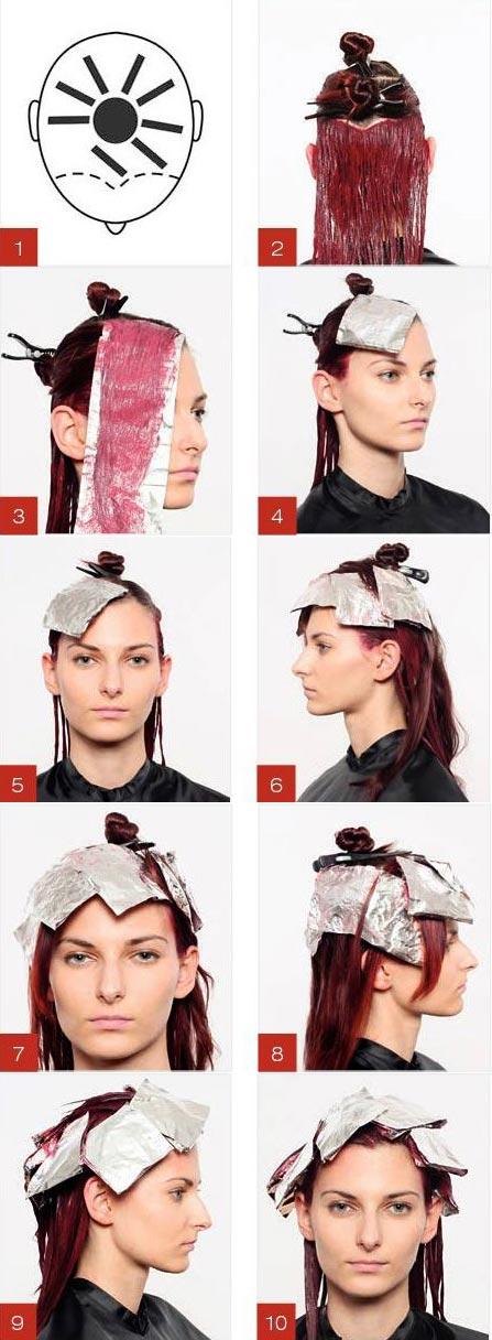آموزش رنگ مو آلبالویی