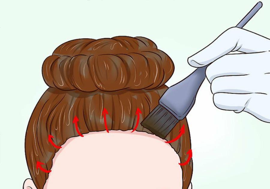 پیچیدن همه قسمتهای مو در بالای سر