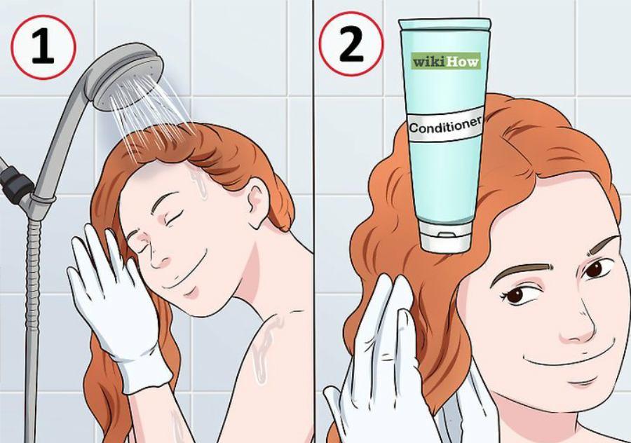 شستن موها با نرم کننده