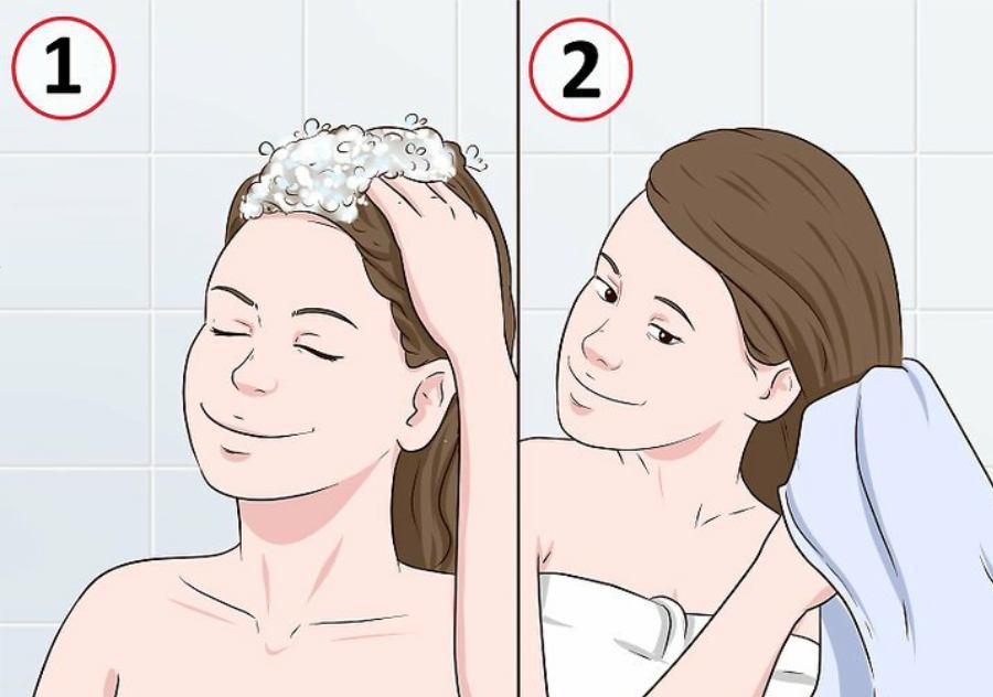 شستن موها قبل از زدن حنا