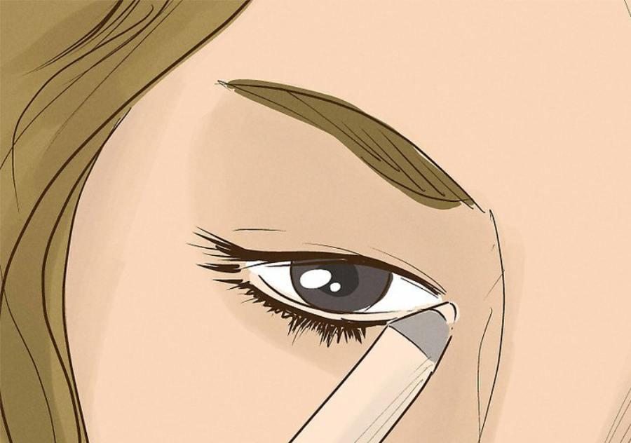 استفاده از خط چشم به رنگ کرم