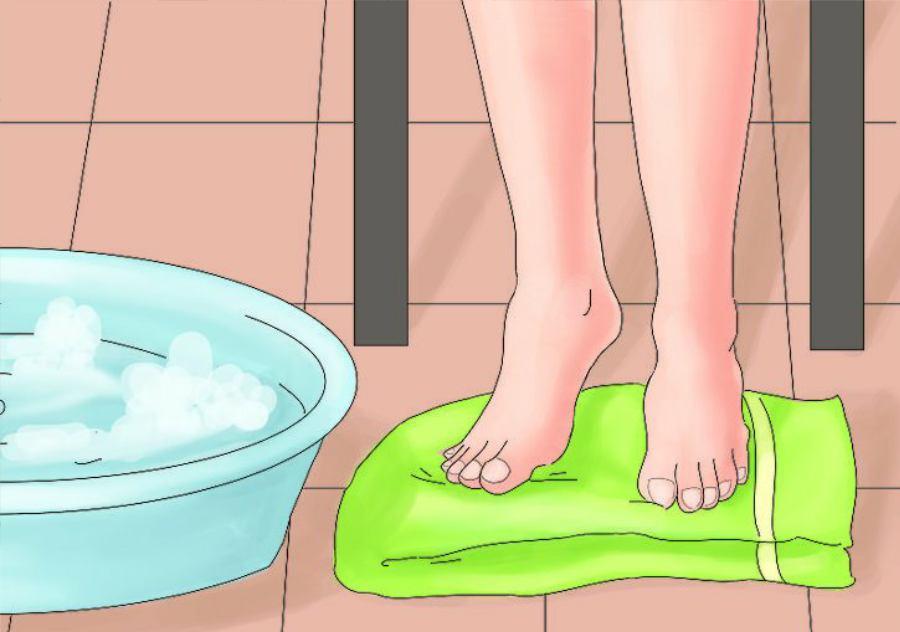 خشک کردن پاها