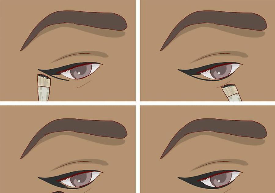 استفاده از خط چشم مایع یا ژله ای