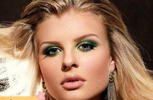 آرایش سبز طلایی