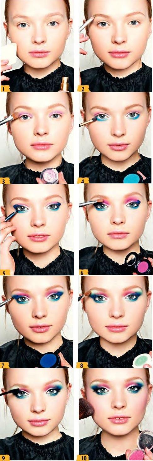 آموزش آرایش رنگین کمانی