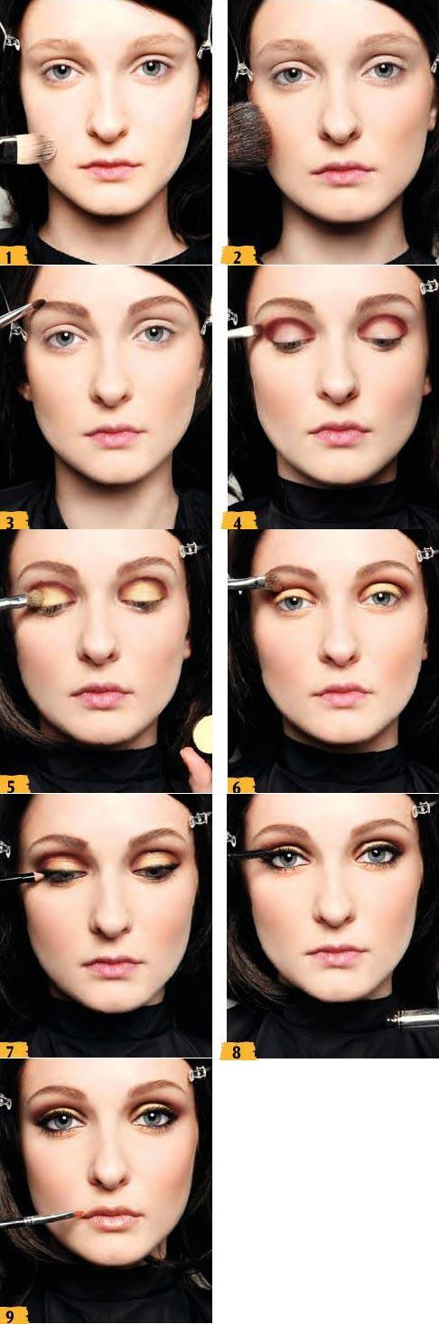 آموزش آرایش زرد طلایی