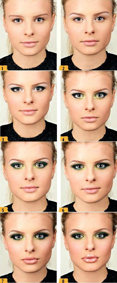 آموزش آرایش سبز طلایی