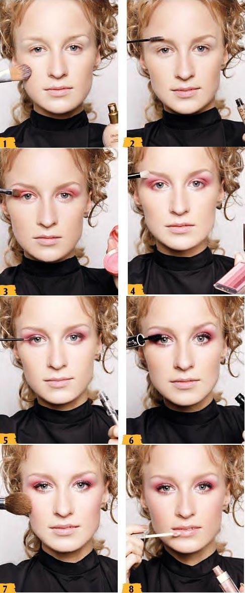 آموزش آرایش صورتی ملایم