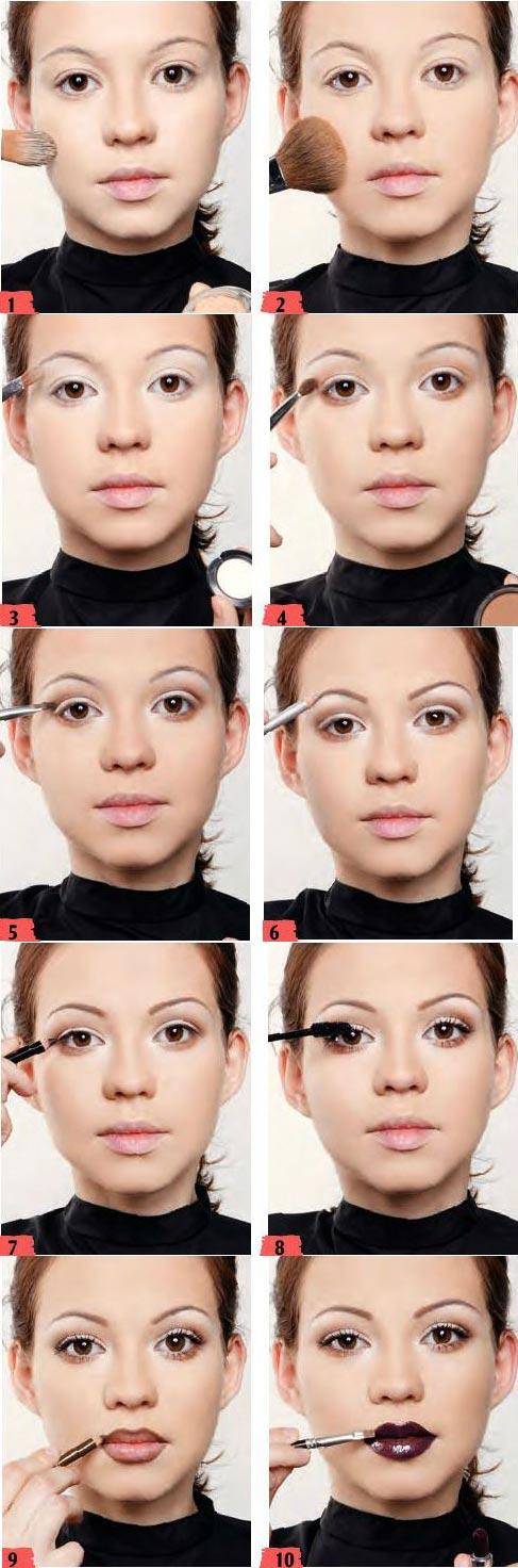 آموزش آرایش لایت دخترانه