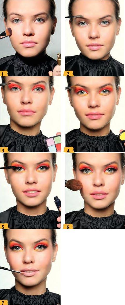 آموزش آرایش نارنجی