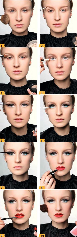 آموزش آرایش چشم ریز