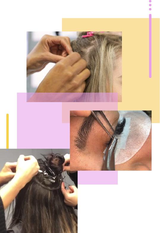آموزش اکستنشن مو و مژه