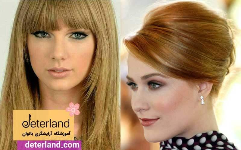 رنگ مو عسلی زیتونی