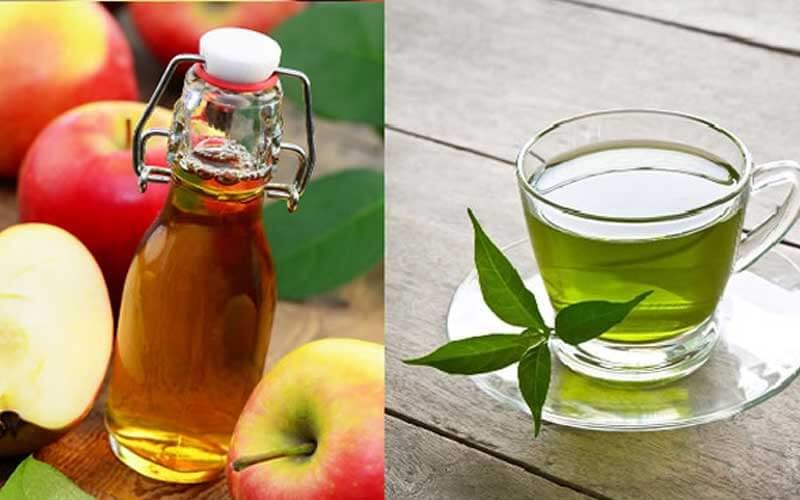 ماسک سرکه سیب و چای سبز