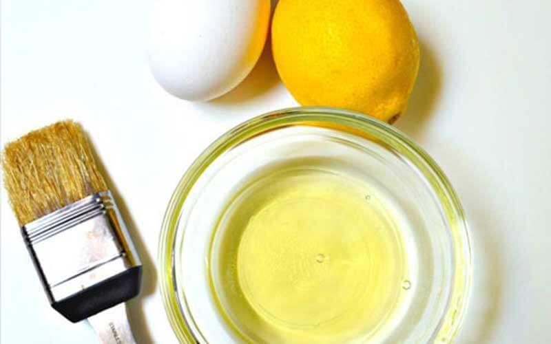 ماسک لیمو و تخم مرغ
