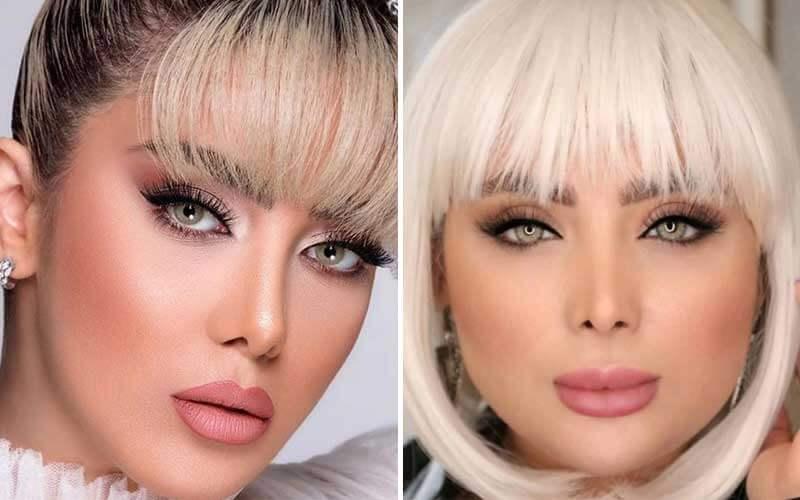 لنزهای رنگی مناسب موهای بلوند و روشن