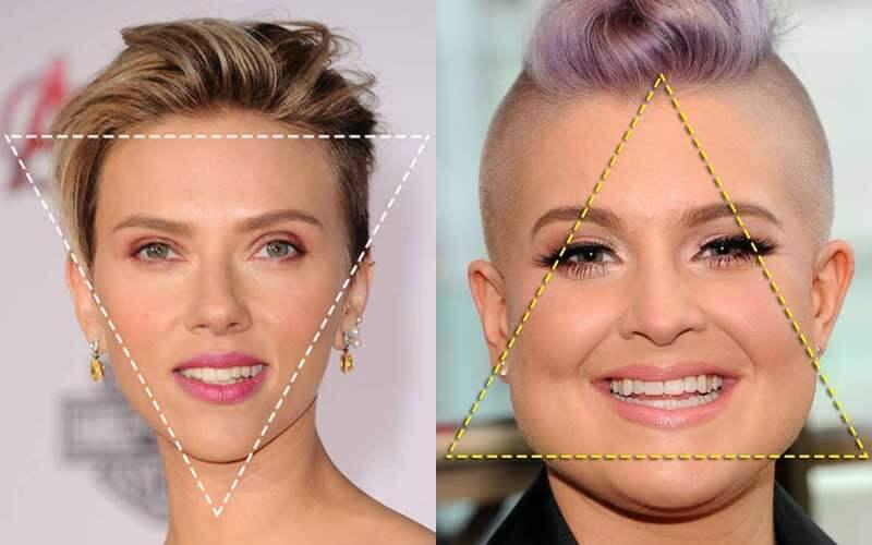 مدل مو صورت مثلثی