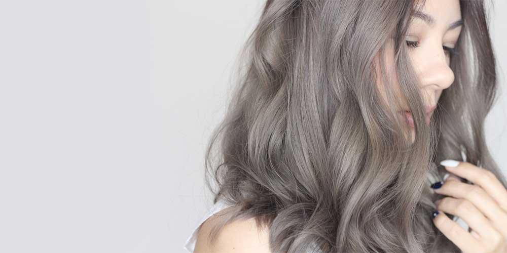 رنگ مو دودی برای موهای سفید