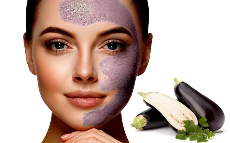 ماسک بادمجان برای درمان لک صورت