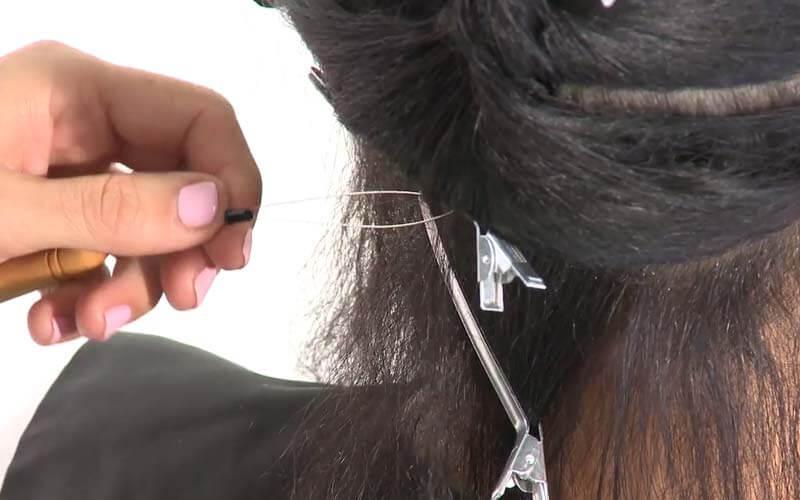 اتصال موها به رینگ به کمک قلاب