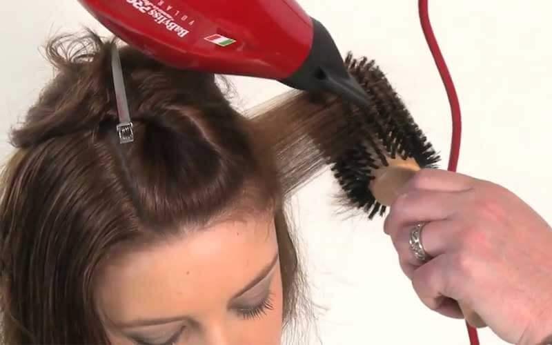 براشینگ موهای کنار سر