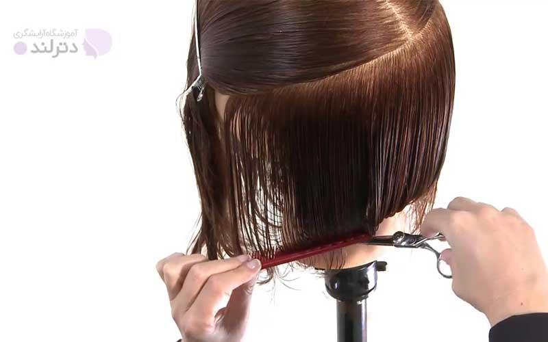برش خط صاف روی موها