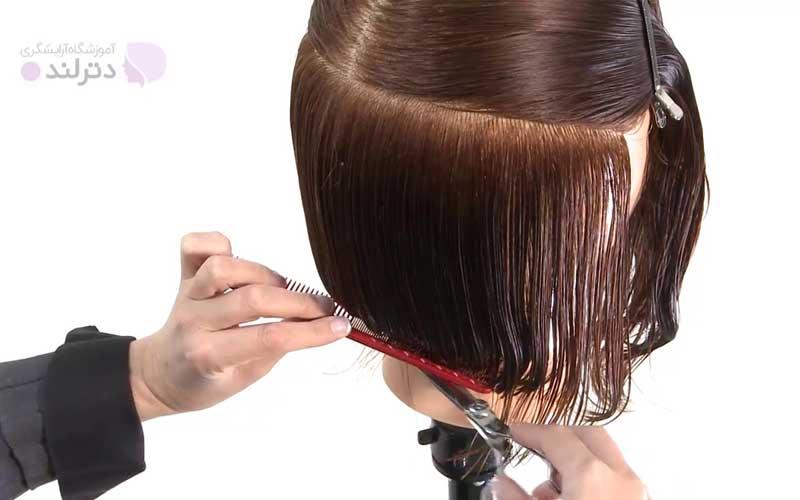 برش موها در طرف دیگر سر