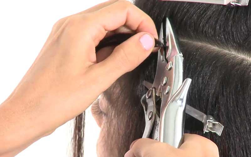ریمو کردن اکستنشن مو با رینگ