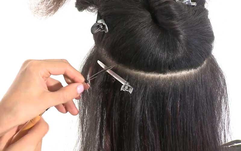 نصب موهای قسمت های کناری سر