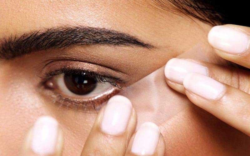 خط-چشم کشیدن با چسب