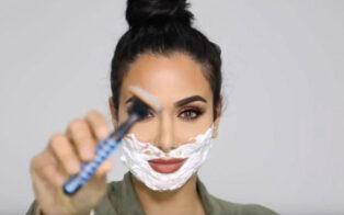 اصلاح صورت با تیغ یا بند