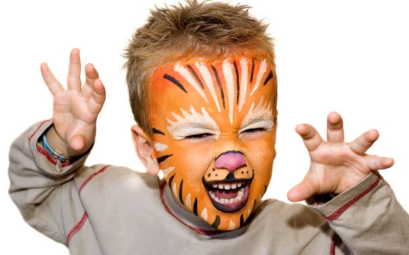 نقاشی روی صورت کودکان پسرانه