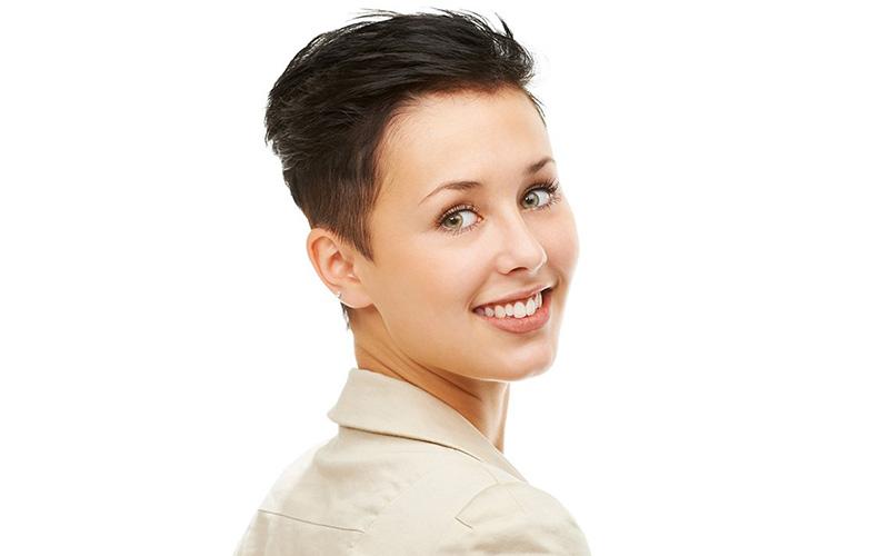 مدل مو پسرانه برای دختر صورت کشیده