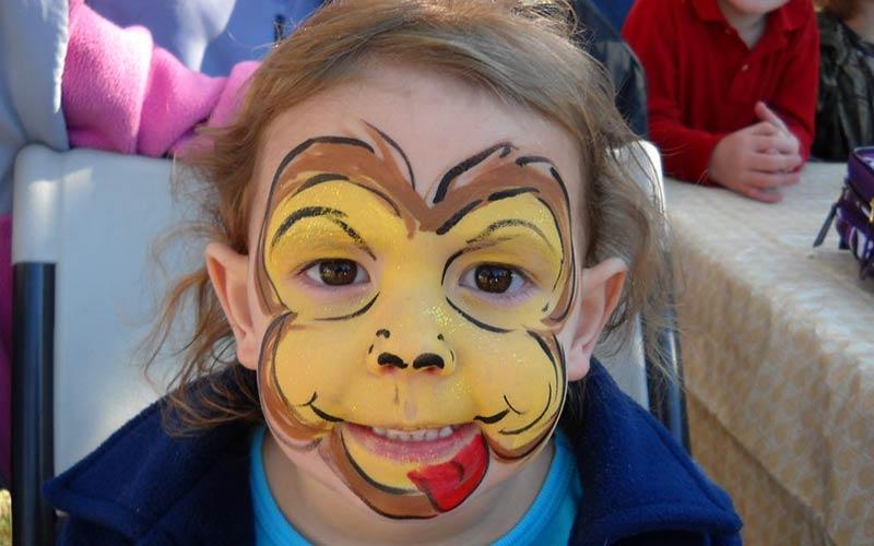 نقاشی صورت کودکان ساده