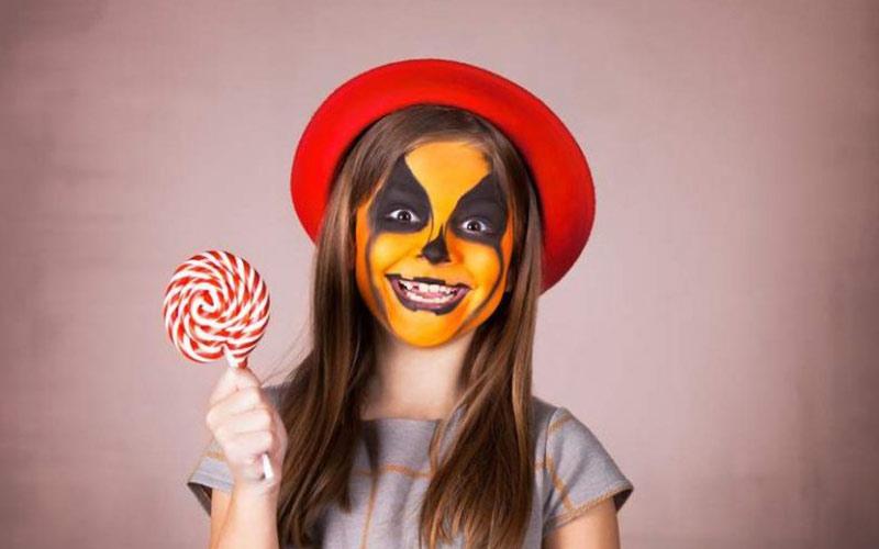 نقاشی صورت کودک برای هالووین