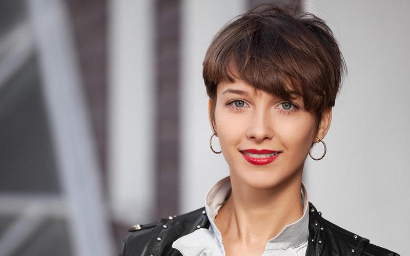 مدل مو پسرانه برای دختر با صورت گرد