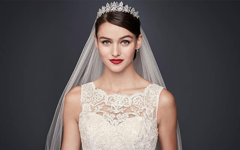 مدل مو عروس با تاج جدید