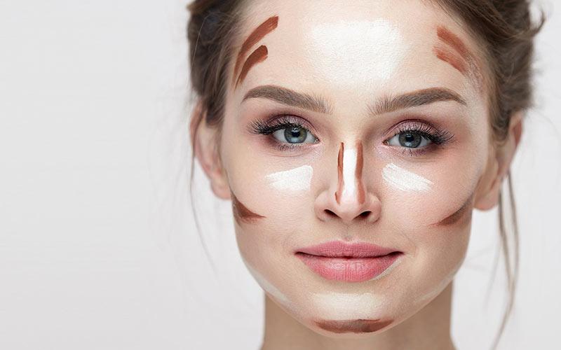 آرایش برنز برای صورت مستطیلی