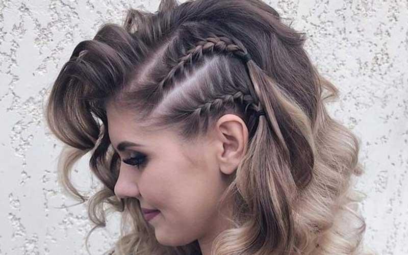 بافت کنار سر با موهای فر