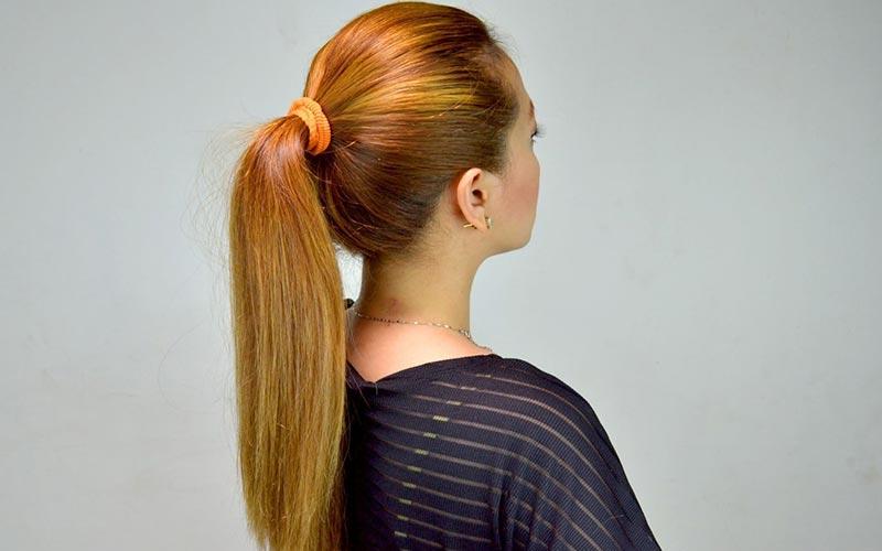 موی دم اسبی ساده برای موهای لخت