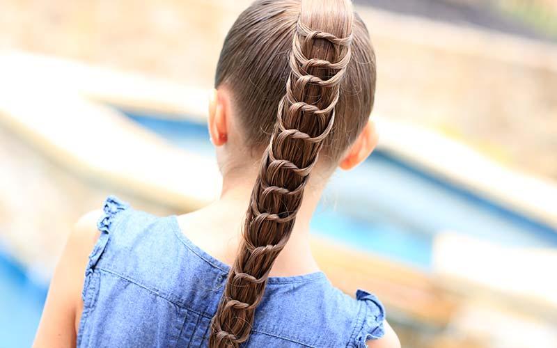 مدل مو دم اسبی دخترانه جدید
