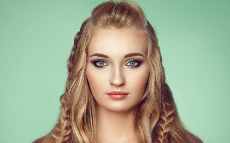 مدل جلو مو برای صورت گرد