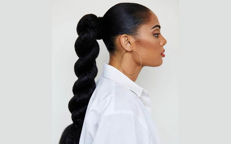 مدل موی دم اسبی برای موهای بلند و ضخیم