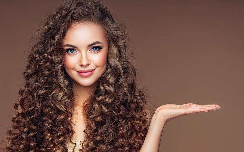مدل موی فر برای صورت گرد