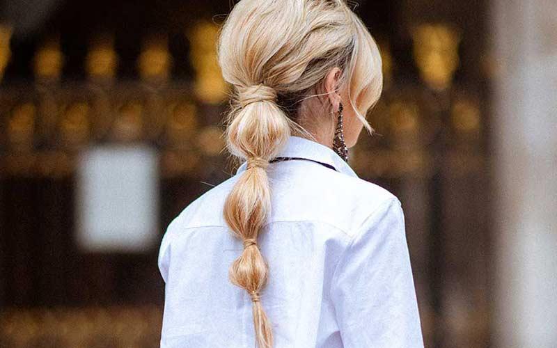 مدل موی دم اسبی ساده و شیک