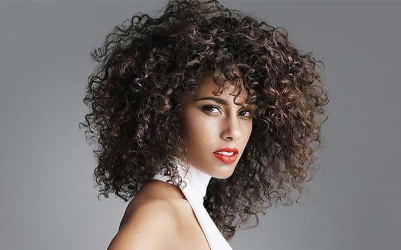 مدل موی باز مخصوص موهای فر