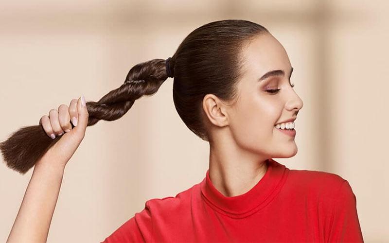 مدل موی دم اسبی برای صورت کشیده